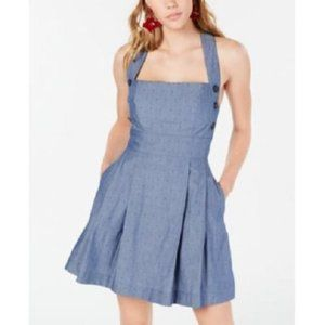 New Teeze Me Chambray Side Button Fit Flare Dress
